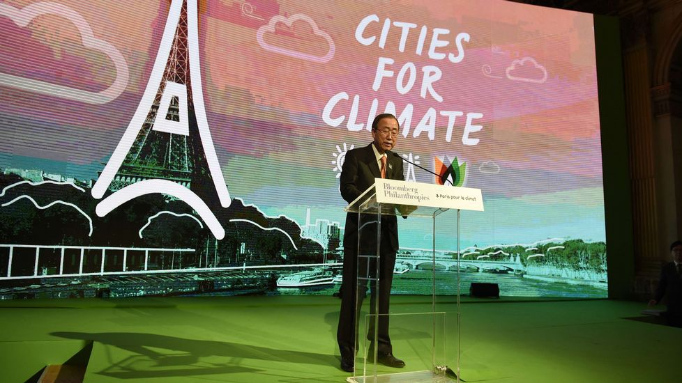Adiós bombillas halógenas, hola LED.Intervención de ayer en París del secretario general de la ONU, Ban Ki-Moon