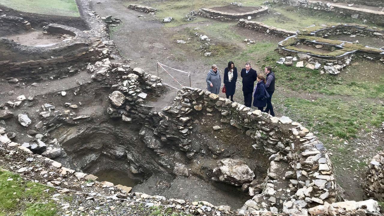 Un momento de las excavaciones realizadas en el cementerio medieval situado en el recinto del castro de Cereixa