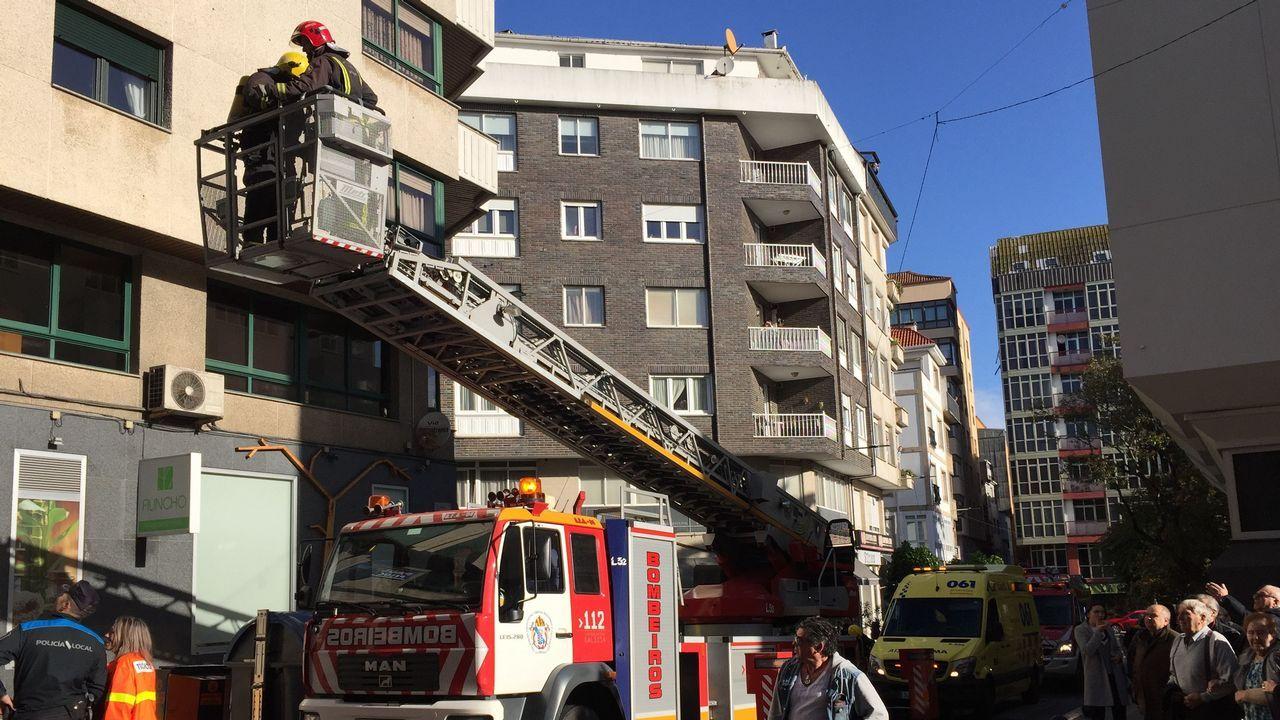 Incendio en un piso de Ribeira