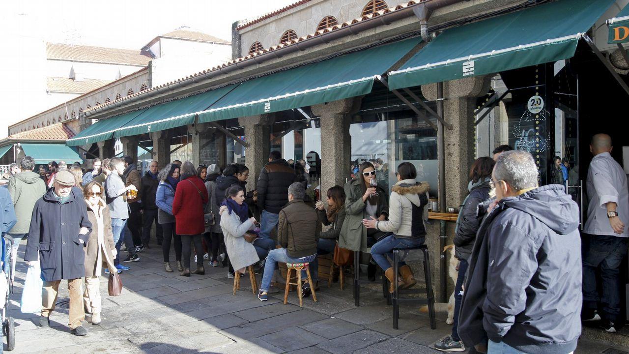 .En el interior del propio mercado de Abastos de Santiago se encuentra el Abastos 2.0