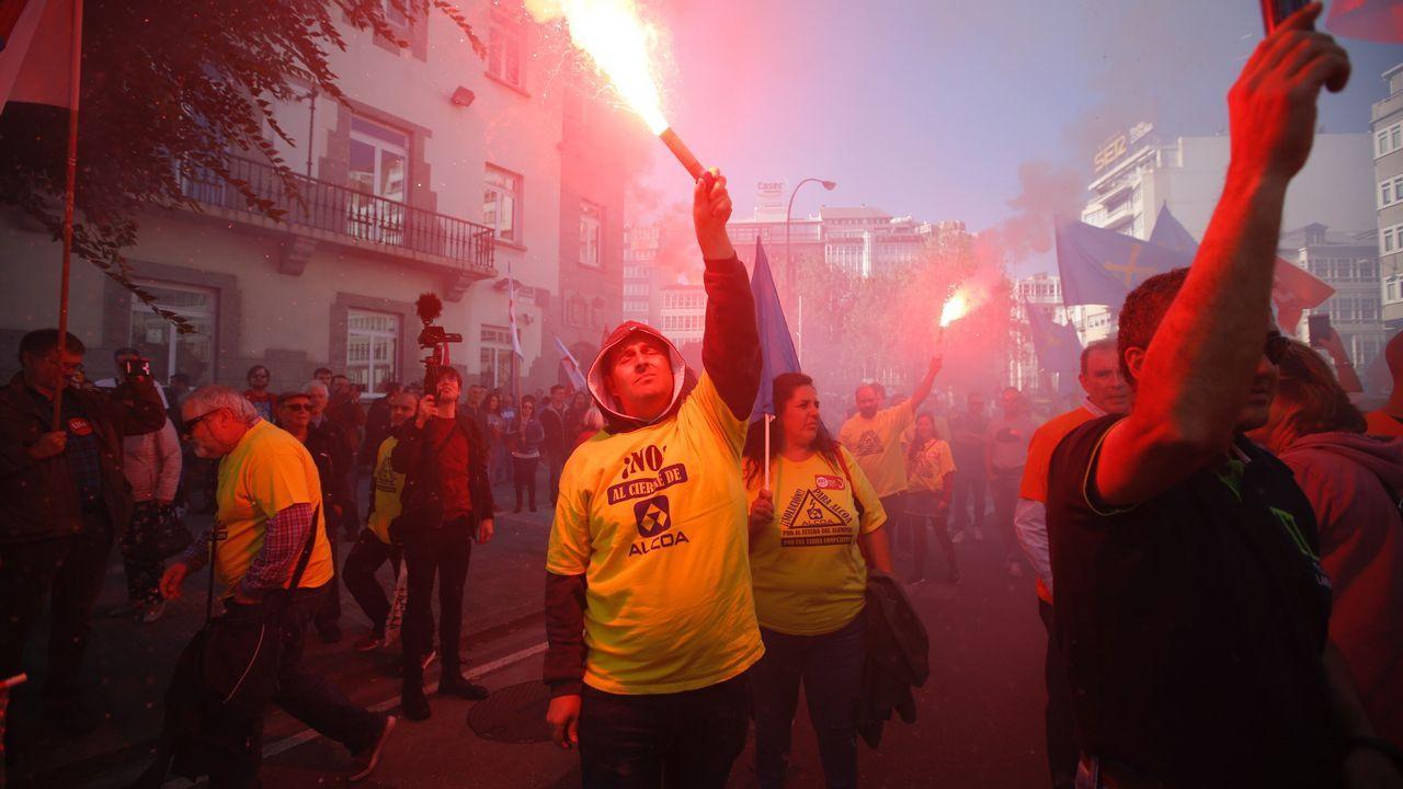 Manifestación contra el cierre de Alcoa