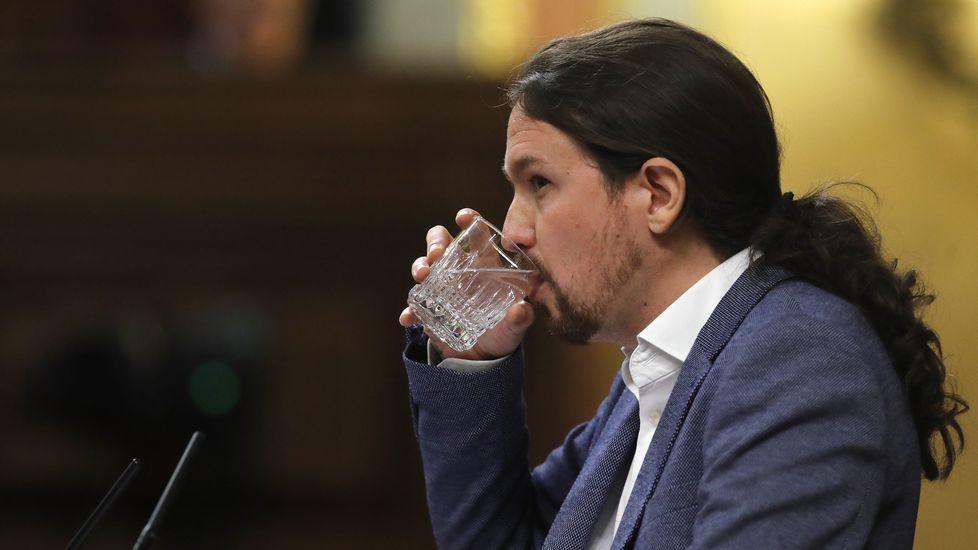 .Pablo Iglesias, durante una de sus intervenciones durante la moción de censura