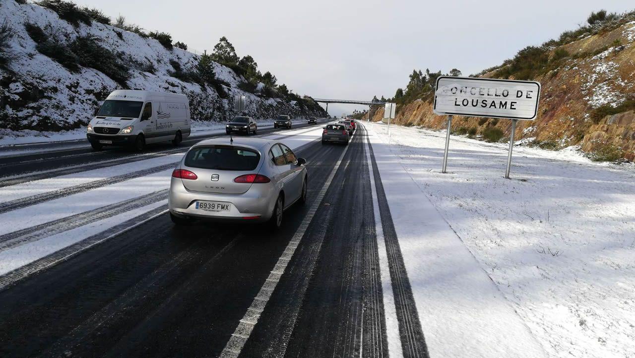 Autovía Santiago-Noia a la altura de Lousame