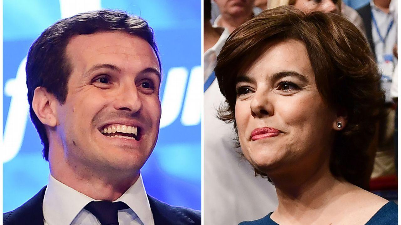 El relevo de Rajoy en el PP, en imágenes.Compromisarios de Pontevedra
