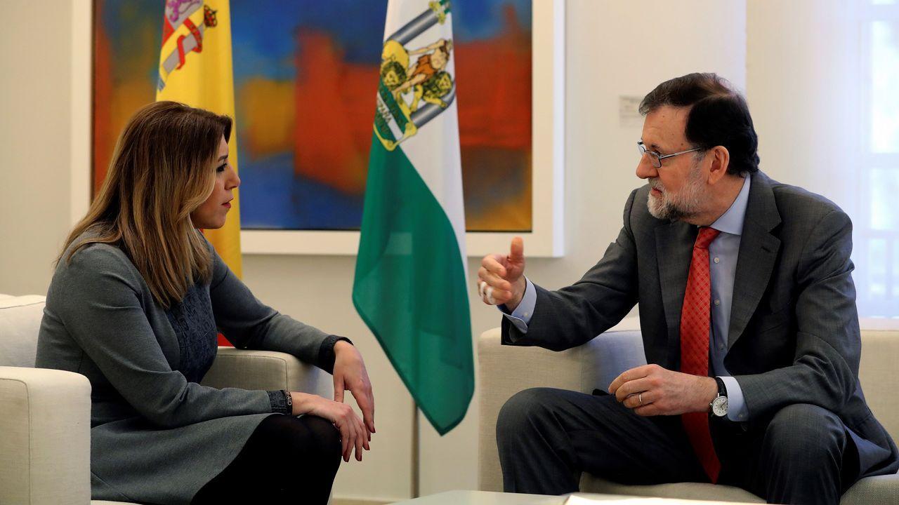 Susana Díaz y Rajoy, en la reunión sobre la reforma de la financiación autonómica
