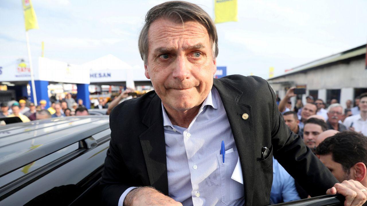 .Jair Bolsonaro, en una imagen del pasado agosto