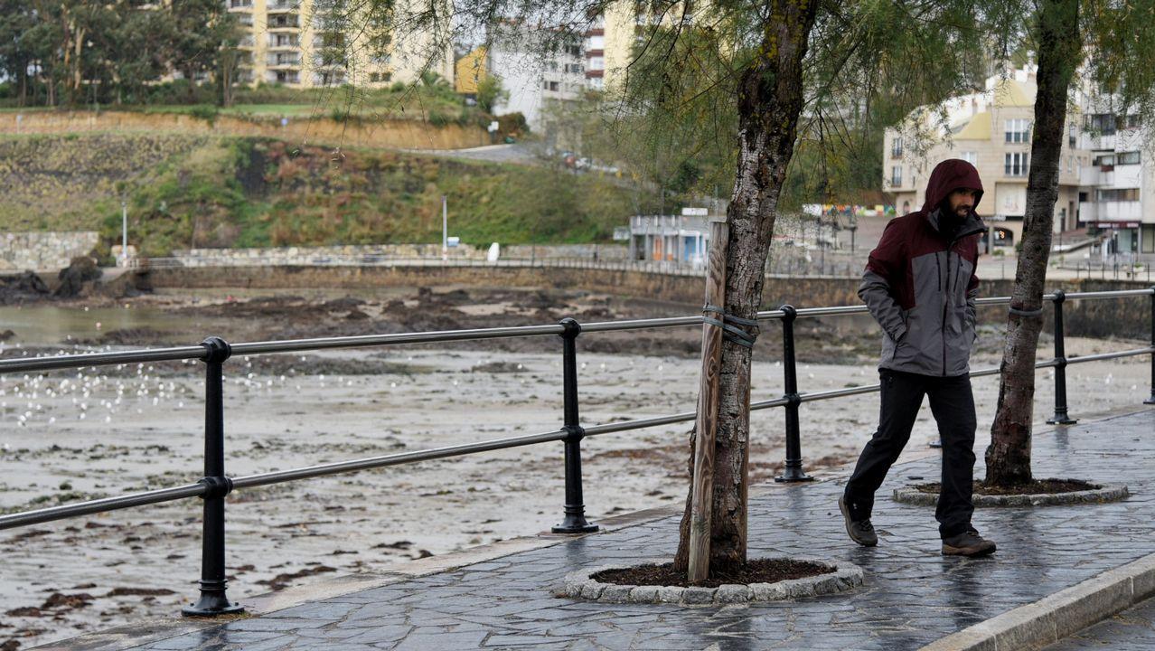 El temporal en Oleiros, A Coruña