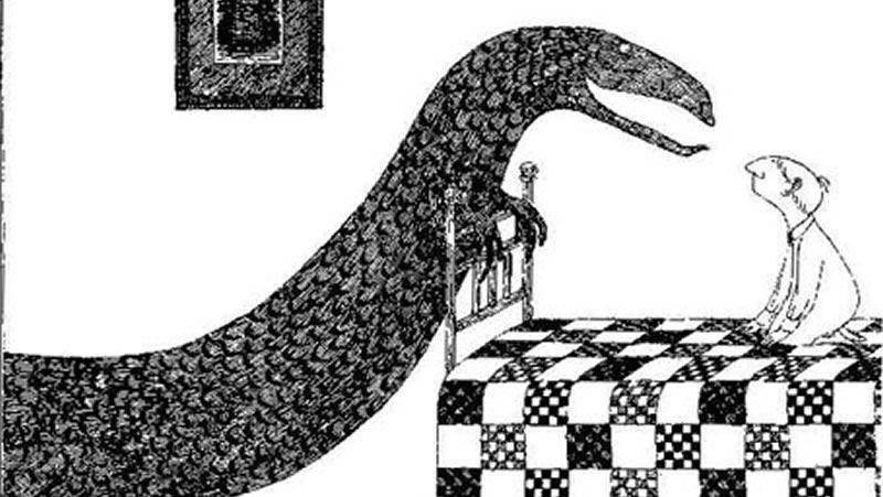 Edward Gorey dibujo