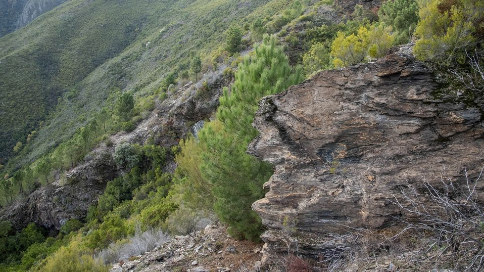 Otra vista del gran socavón minero