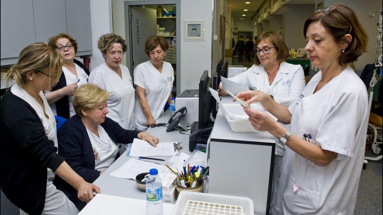 Imagen de archivo de las enfermeras del Hospital de Día de Oncología en el Materno