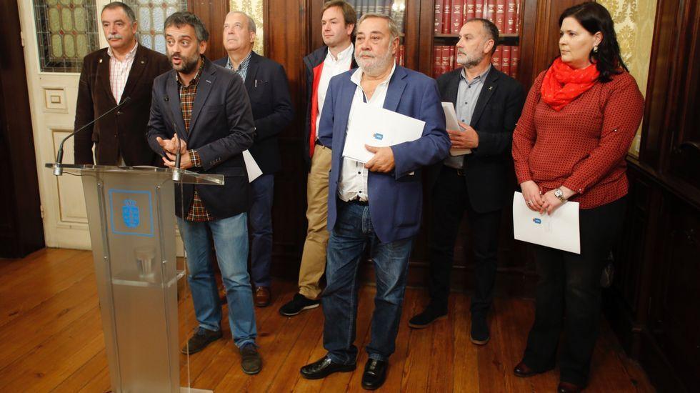 Firma de la Declaración de María Pita con alcaldes da comarca para impulsar área metropolitana
