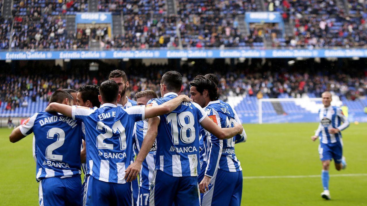 Las imágenes del Deportivo - Zaragoza.Lucas Alcaraz