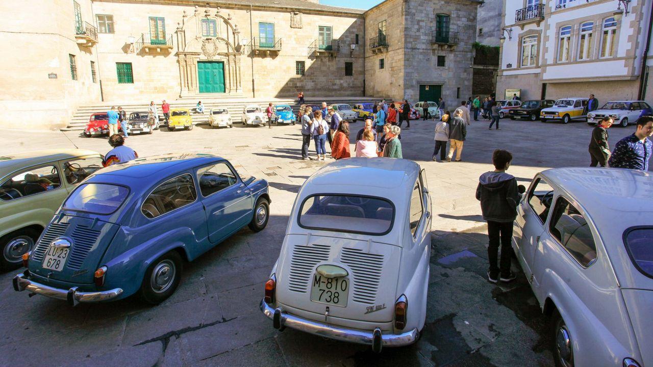 .Concentración de SEAT 600 en Lugo en el 2016.