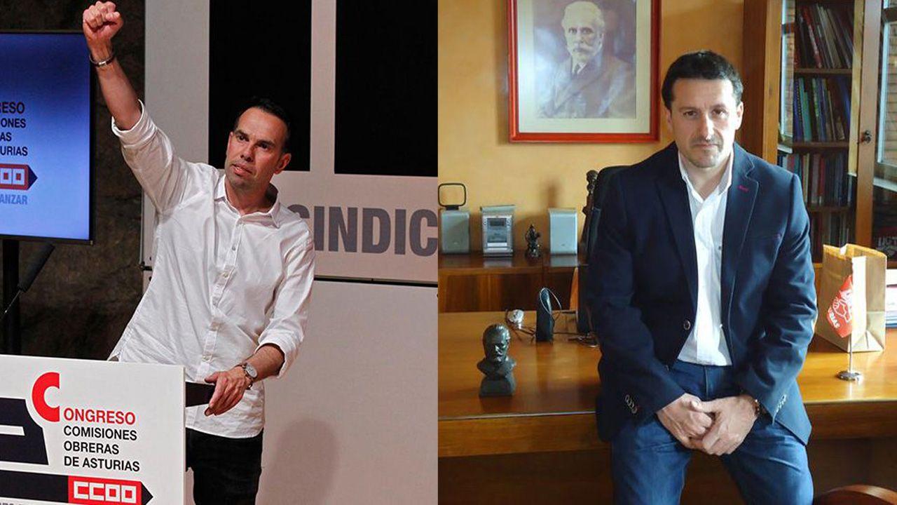 Belarmino Feito, nuevo presidente de FADE.José Manuel Zapico y Javier Fernández Lanero