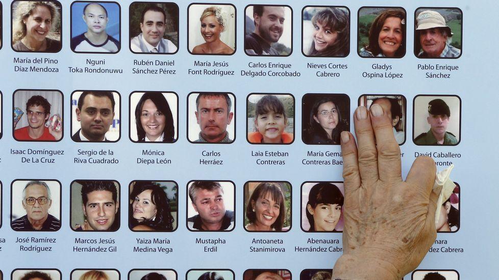Las imágenes de las víctimas en el homenaje en Madrid