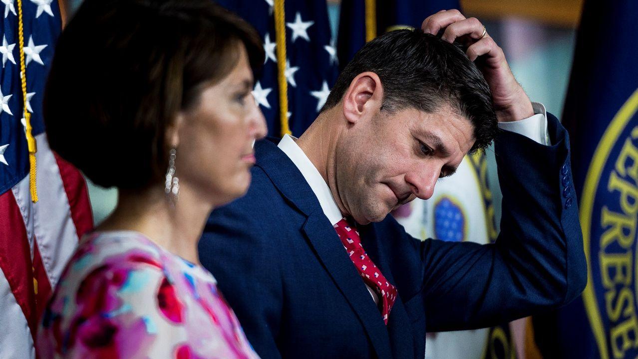 .Paul Ryan, líder republicano en el Congreso, tuvo que defender a la CIA ante el desplante de Trump
