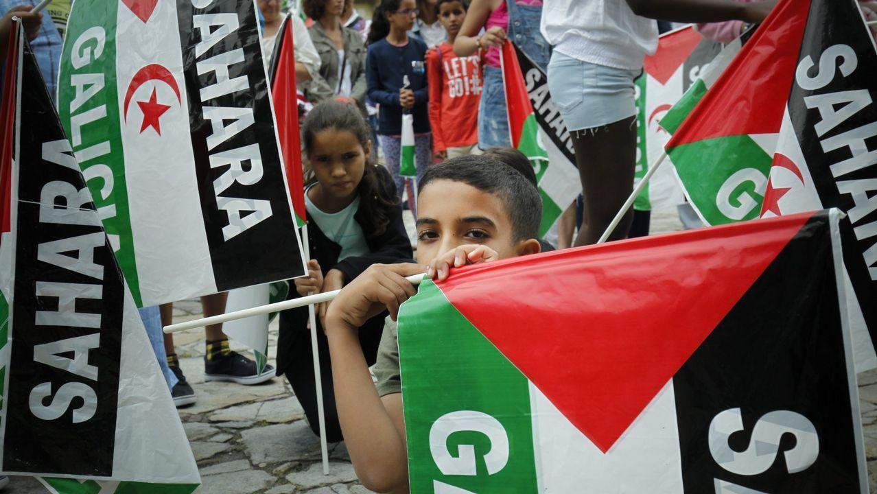 Movilización en Santiago en favor del pueblo saharaui