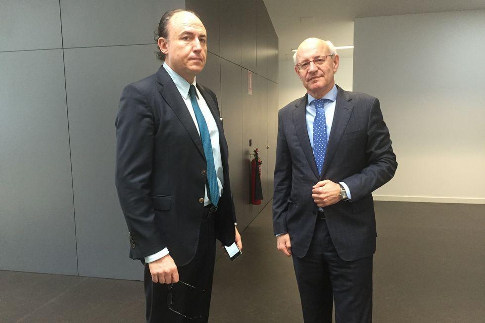 Florentino Delgado y Fernando Suanzes, ayer, en Ourense.
