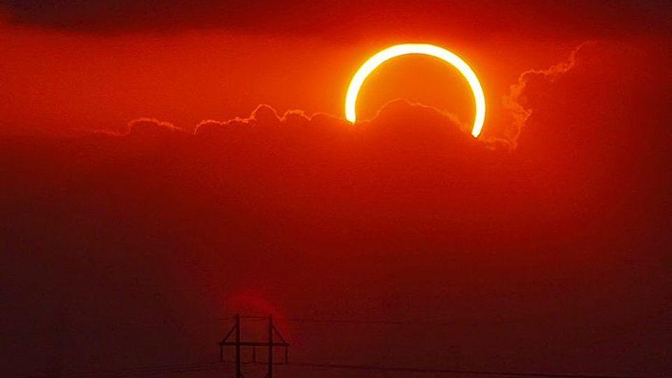.Eclipse solar anular del 2012 visto desde Texas