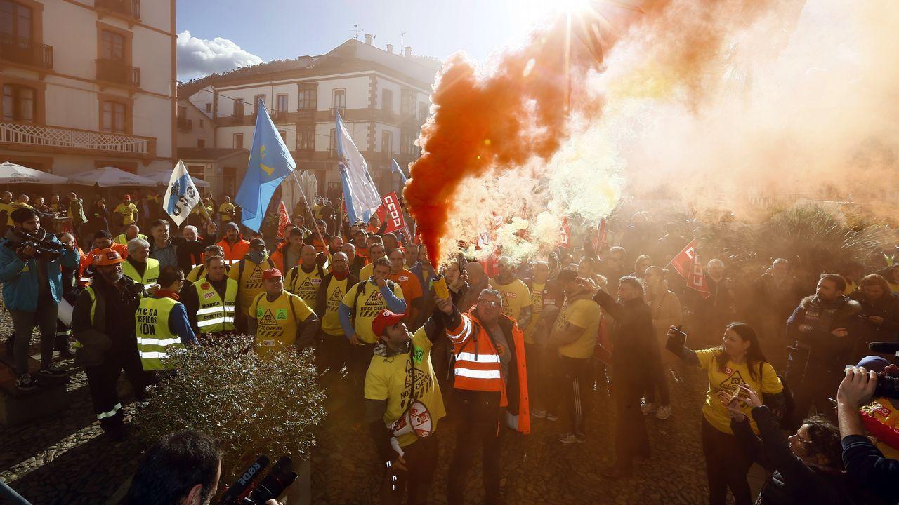 Trabajadores de Alcoa en Ribadeo, rumbo a Vegadeo
