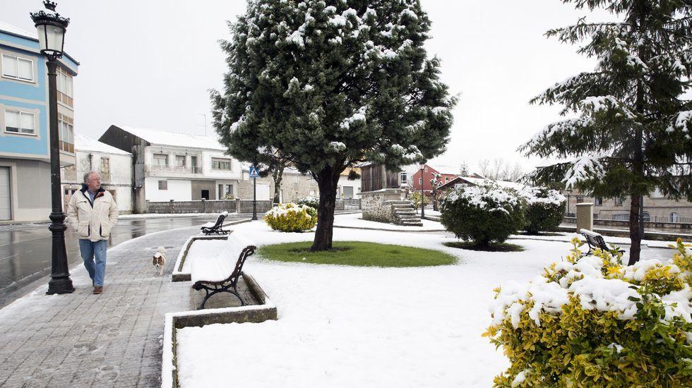 Nieve en Guitiriz