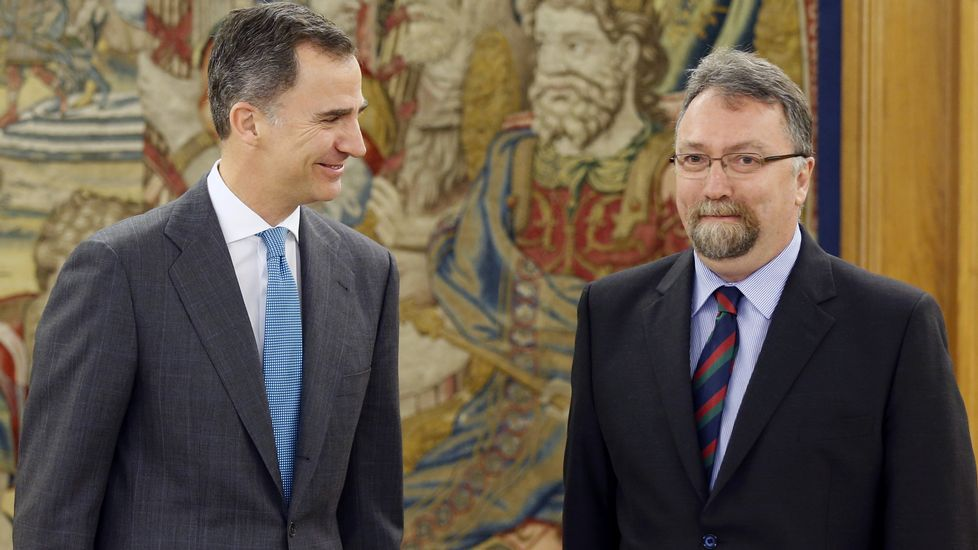 Felipe VI con Isidro Martínez Oblanca, de Foro Asturias.