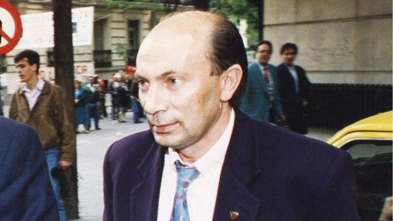 José Alberto Aguín en 1993, a la salida de un juicio en la Audiencia Nacional