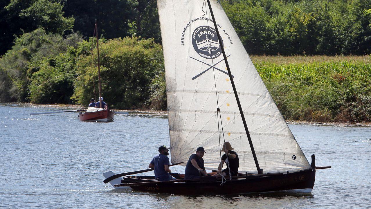 Navegando en dorna por el Ulla y el Sar