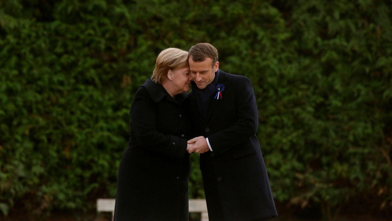 Las elecciones de medio mandato de EE.UU., en imágenes.Merkel y Macron se dieron un abrazo en el memorial contra las atrocidades de la guerra en el bosque de Compiégne
