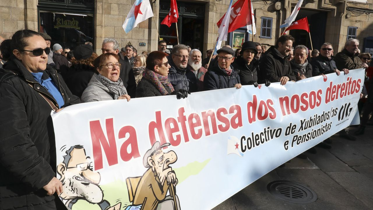 Concetración en Oviedo en defensa de las pensiones