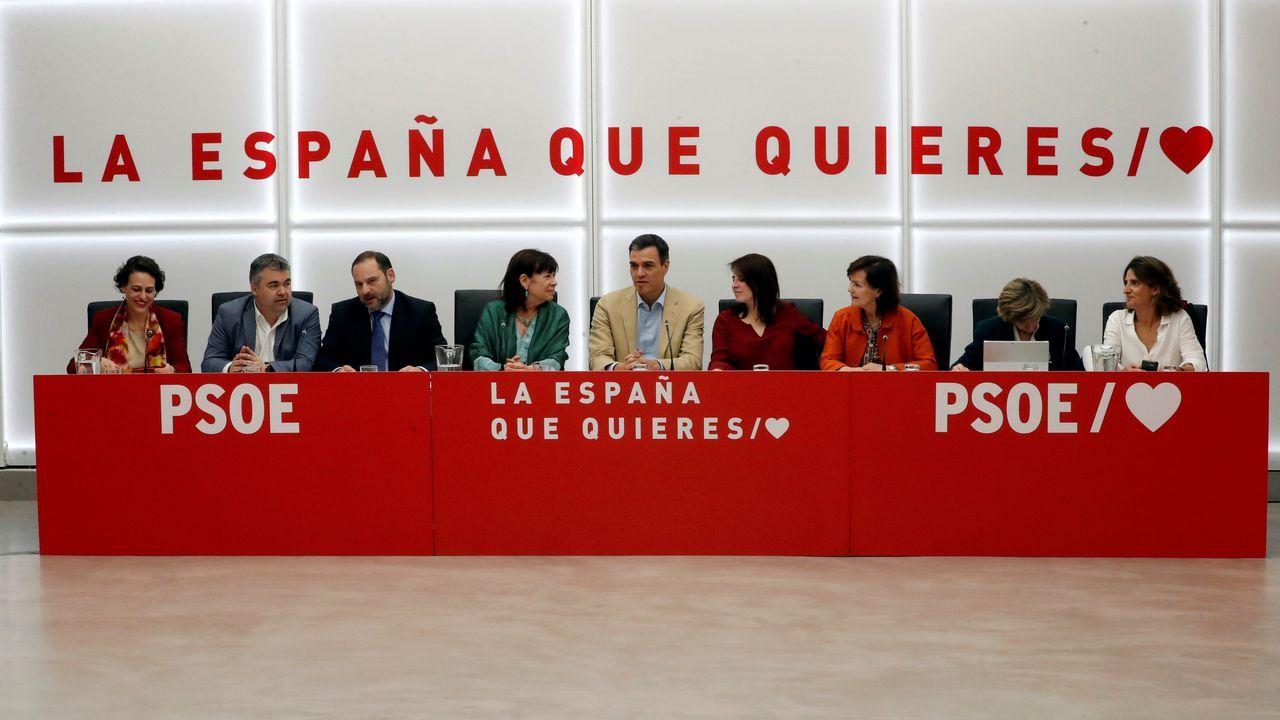 Pedro Sánchez, a su llegada a la reunión de la ejecutiva del PSOE celebrada en Ferraz