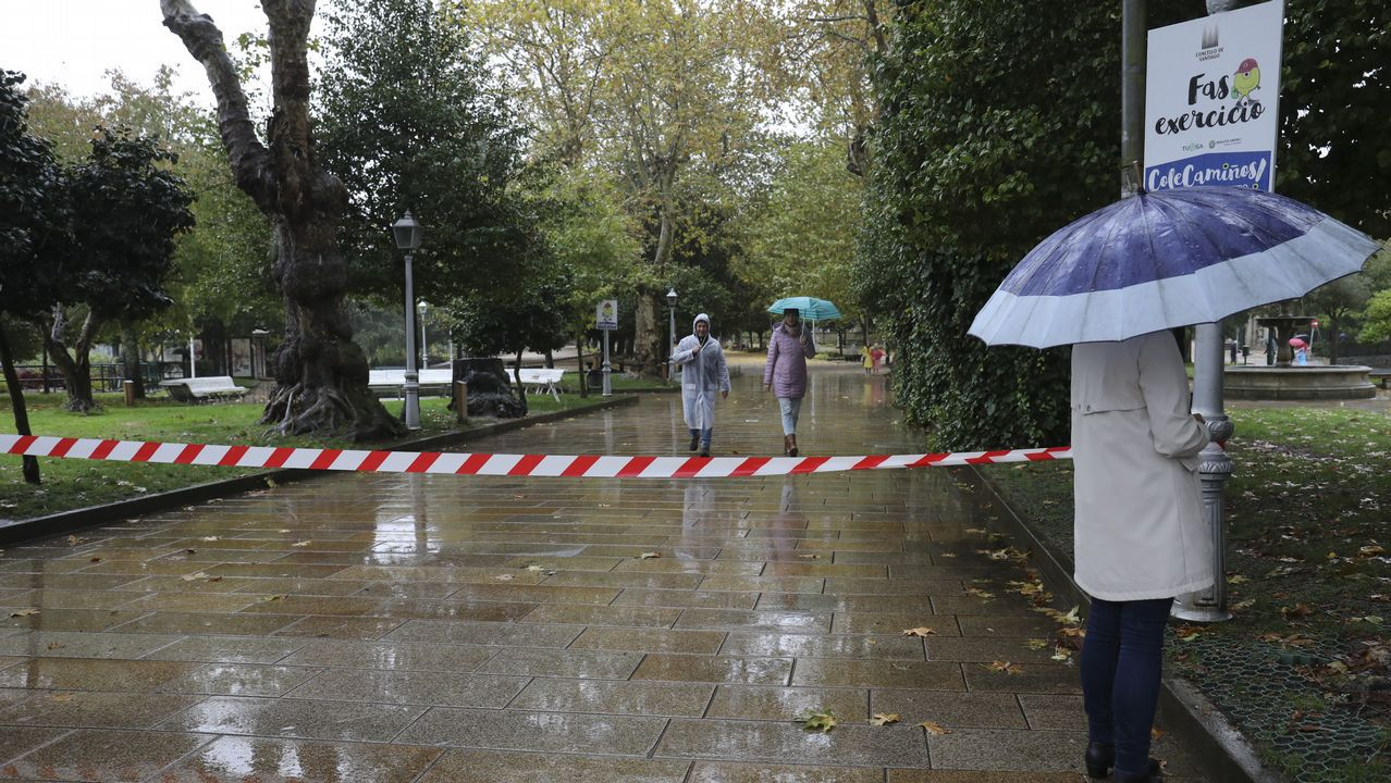 Fuertes lluvias y vientos a causa del temporal en Santiago, donde se han cerrado varios parques