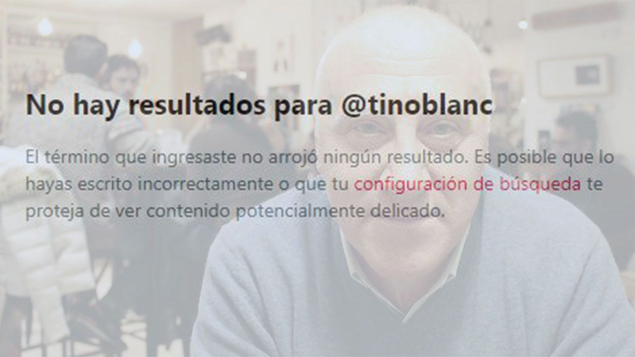 Faustino Blanco ha eliminado su cuenta de Twitter