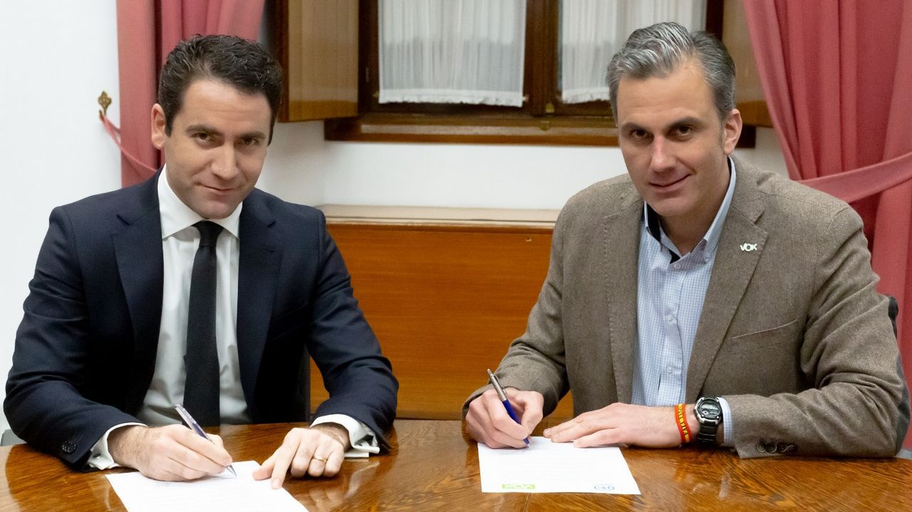 García Egea (PP) y Ortega Smith (Vox)
