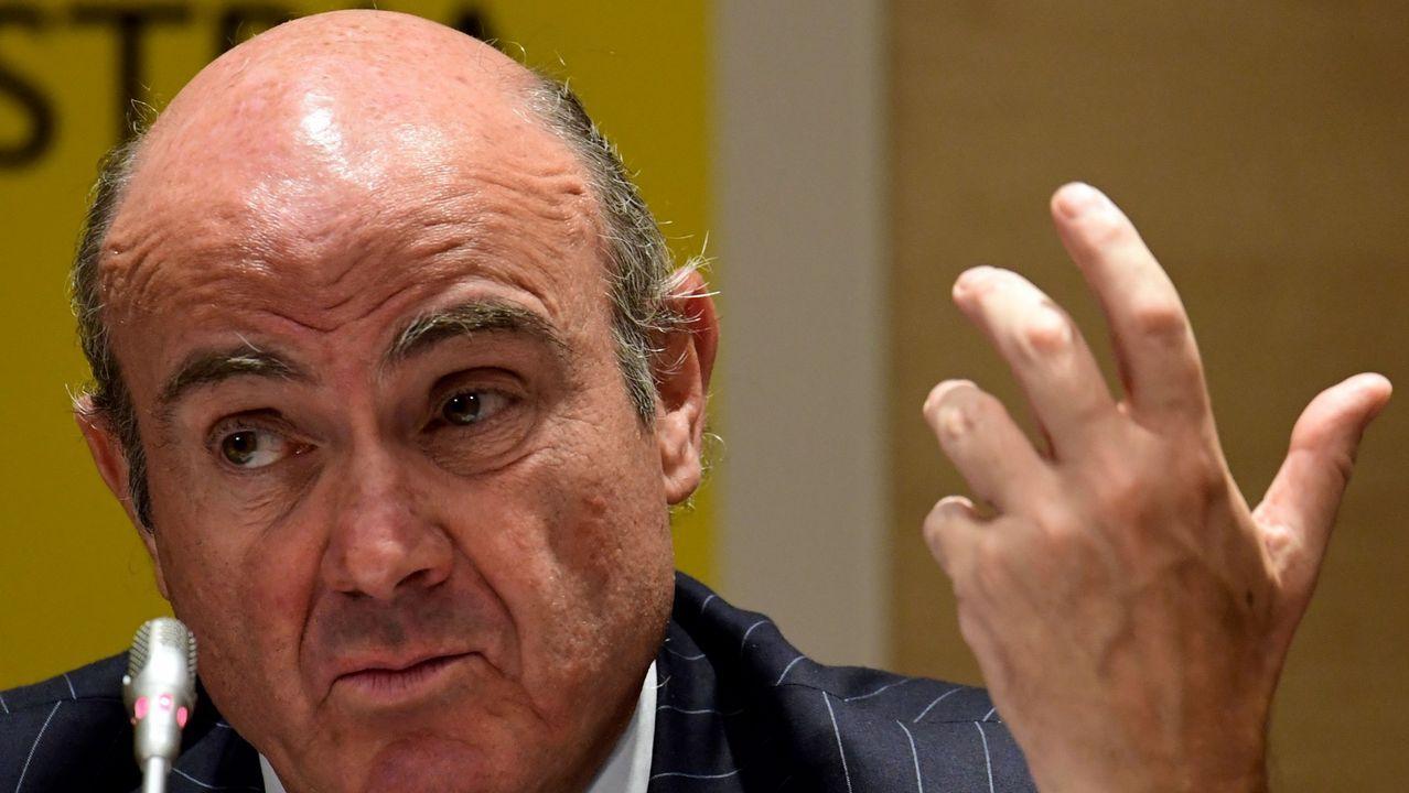 .El ministro de Economía, Luis de Guindos