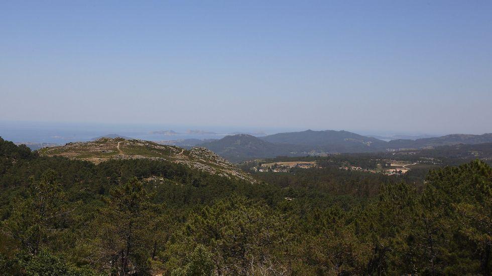 Con altitudes que superan os 600 metros, o Monte Aloia ofrece belas panorámicas