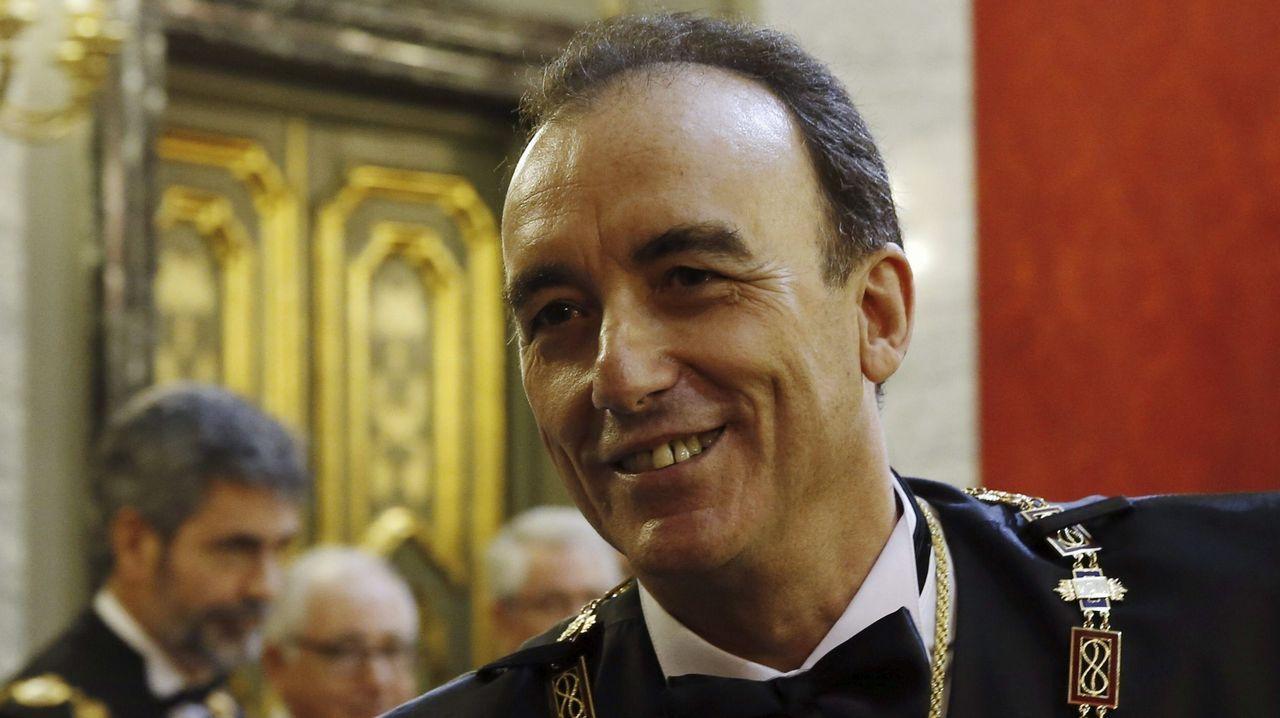 Manuel Marchena, el candidato que quiere el PP, será el presidente del CGPJ.Trujillo Suárez durante el Sporting-Numancia de esta temporada