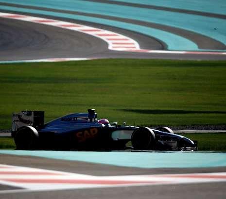 El McLaren de Jenson Button en Abu Dabi, la última carrera del 2014.
