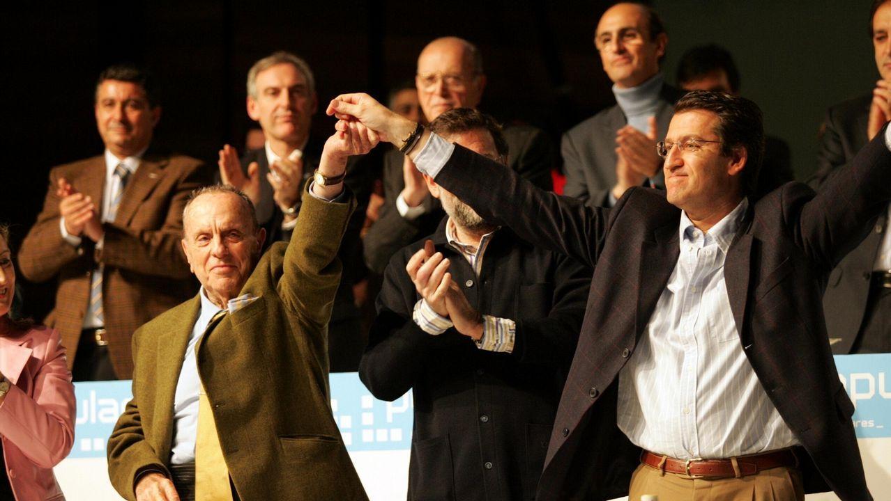 En un congreso celebrado en enero del año 2006, Alberto Núñez Feijoo fue elegido nuevo presidente del Partido Popular en Galicia. Fraga le entregó ese día el relevo.