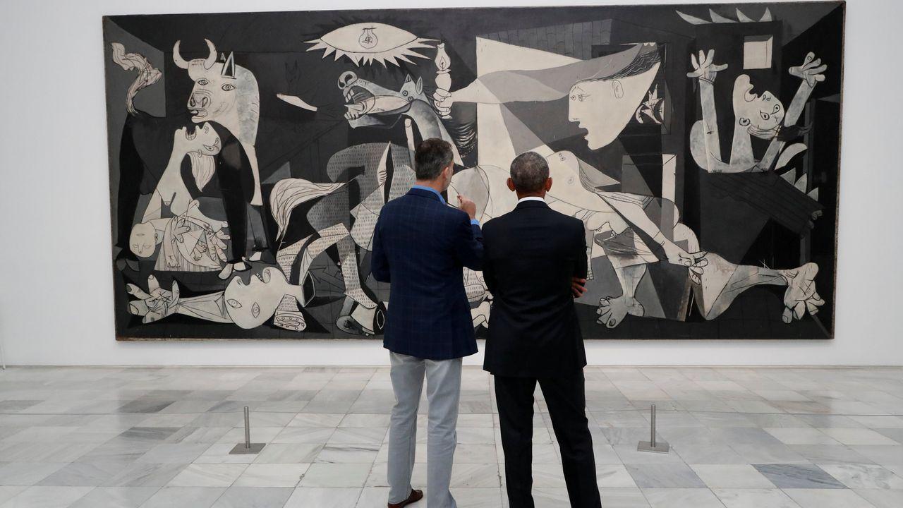 Estos rincones gallegos sí que son de película.El rey descubrió a Obama los secretos del «Guernica»