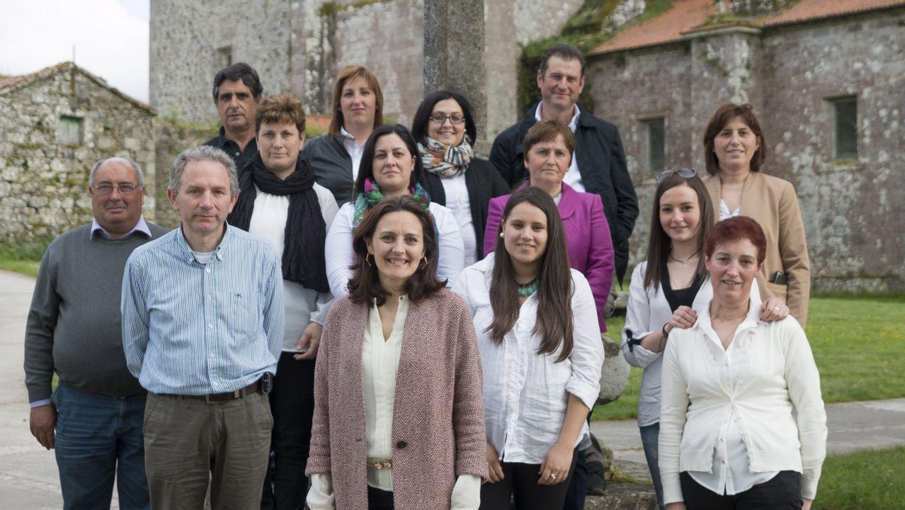 María Jesús Varela Sobrado Aspace .María Jesús García Souto, en primer término, en el centro