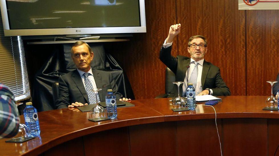.Alejandro Legarda (izquierda) y Fernando Herce en una imagen de archivo.
