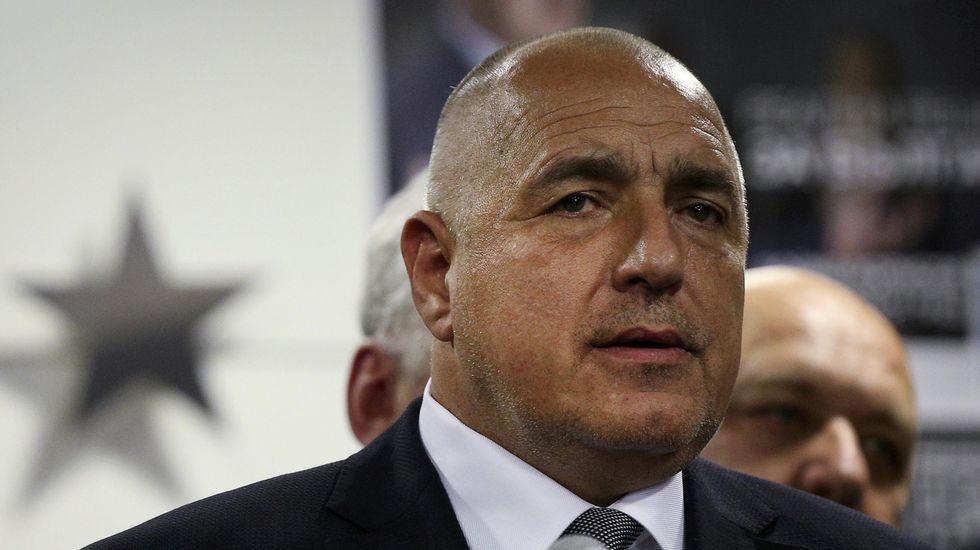 .El primer ministro búlgaro Boiko Borisov