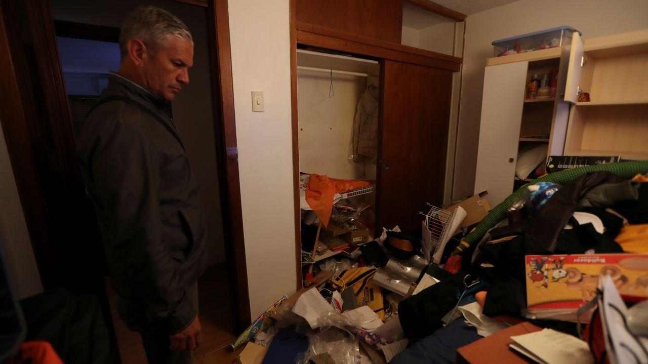 Así quedó la vivienda de Roberto Marrero, jefe de despacho del líder opositor Juan Guaidó, tras su precipitada detención anoche