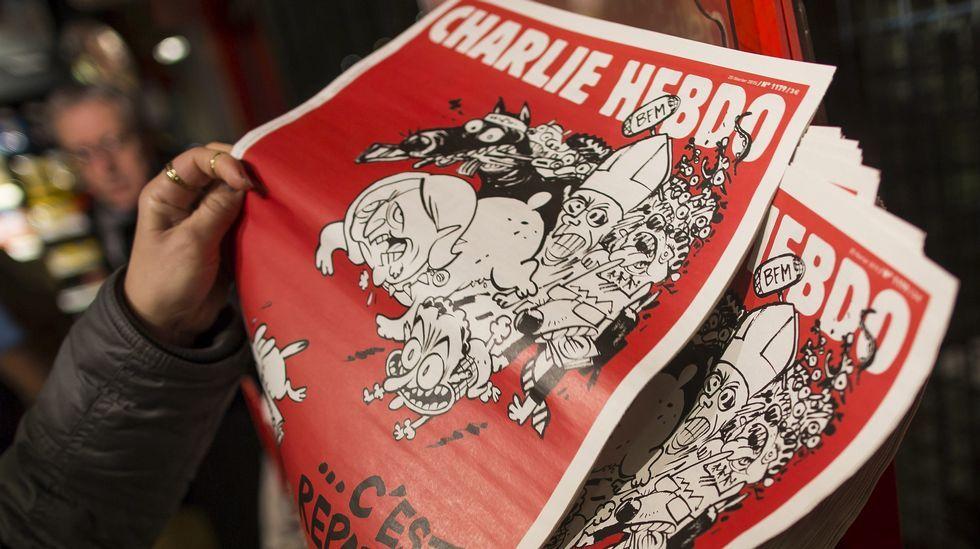 «Charlie Hebdo» vuelve a los quioscos.Amedy Coulibaly en un vídeo pensado para su emisión tras los atentados