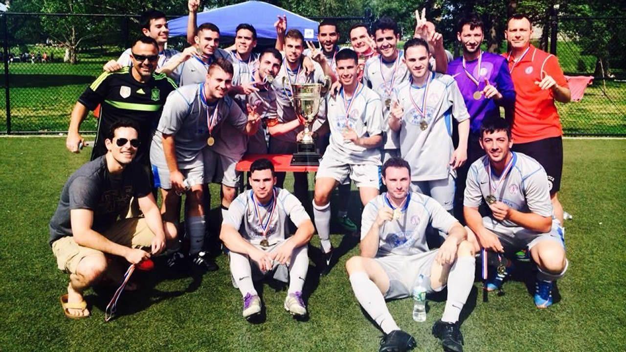 Una de las formaciones recientes del equipo gallego que juega el torneo norteamericano.