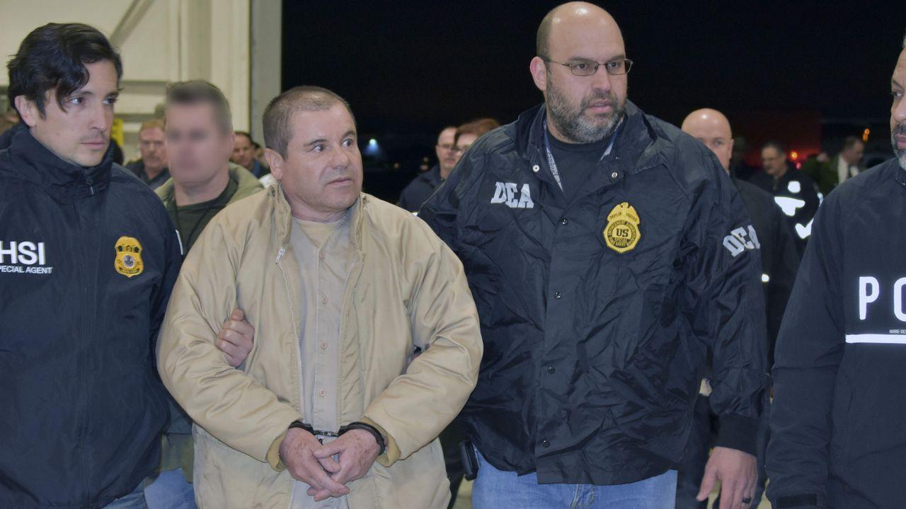 El Chapo Guzmán, durante el juicio contra él