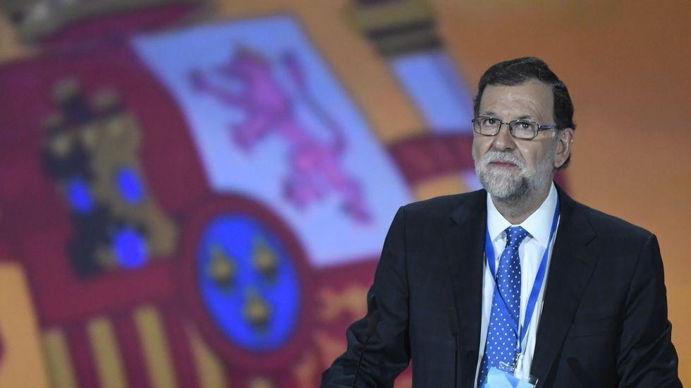 Rajoy recuerda «con gratitud» a Aznar en el primer Congreso sin el expresidente.Natalio Grueso a su llegada a los juzgados