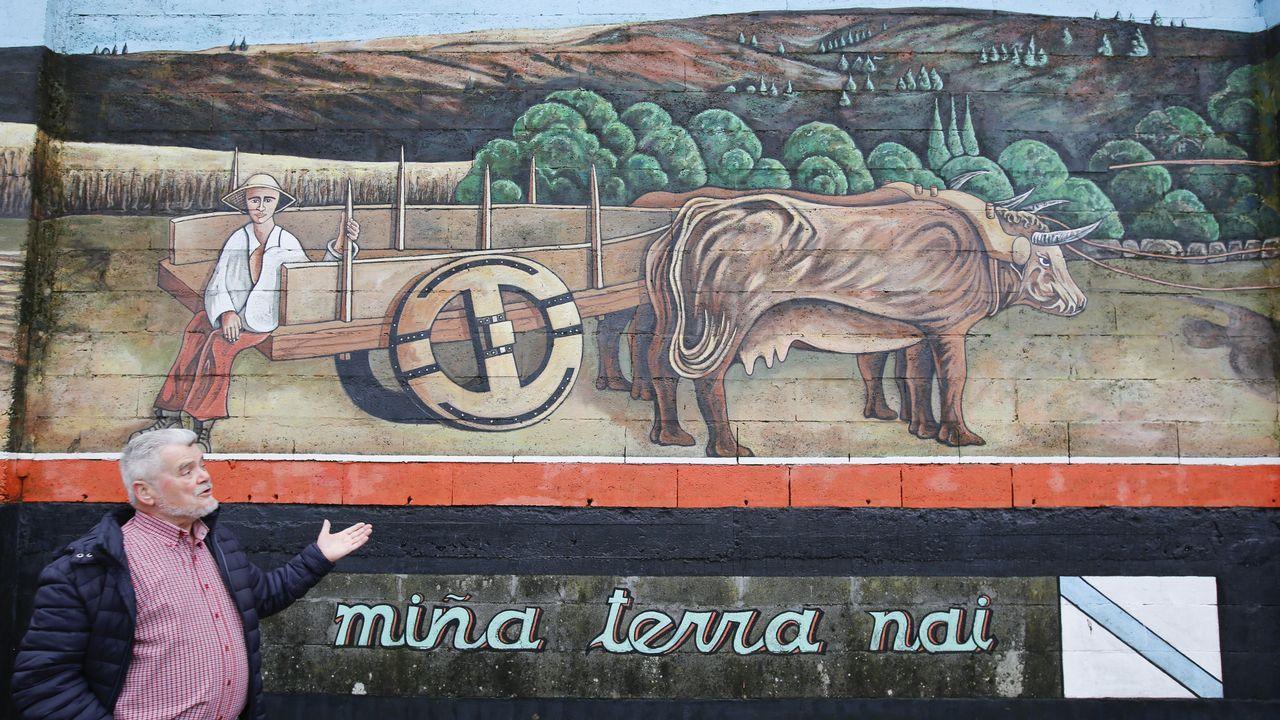 Monseiro, el pueblo de los siete murales.Juan Guaidó durante su primera aparición pública tras autoproclamarse presidente de Venezuela