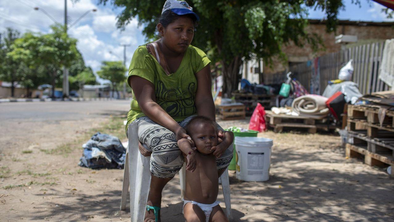 El parto que emocionó a Venezuela.Simpatizantes del presidente Maduro se manifiestan, en agosto, por las calles de Caracas